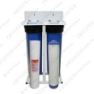 Picture of Silver Double Stage Home Water Filtration On A Stand Unit