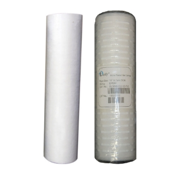 Picture of 10 Inch Sediment and Absolute Pleated (0.2 Micron) Filters for Double Counter Top