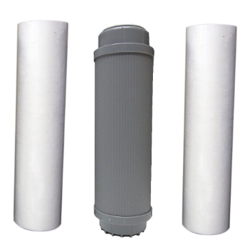 Picture of 10 Inch 5 Micron, GAC/UDF, & 1 Micron Filters for Triple Counter Top