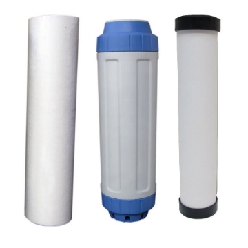 Picture of 10 Inch 1 Micron, KDF, & Ceramic (0.5 Micron) Filters for Triple Counter Top
