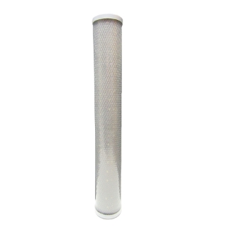 """Picture of 20"""" Silver Nano Activated Carbon Block"""